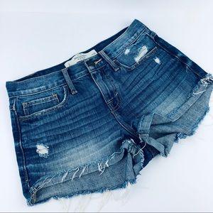 Abercrombie Distressed Cutoff Jean Shorts Denim 2